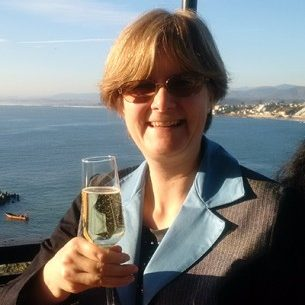 Helen with sparkling wine 2