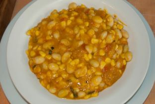 dish of porotos granados
