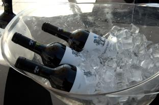 bottles in ice bucket